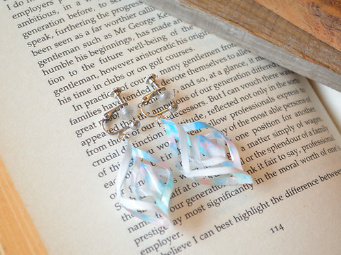 Origami Snowdrop Earrings 折り紙のスノードロップピアス