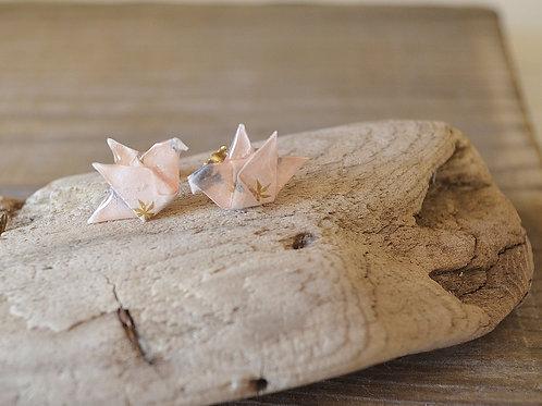 Origami Dove Stud Earrings ハトの折り紙スタッドピアス