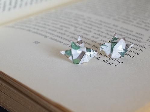Origami Dove Stud Earring ハトの折り紙スタッドピアス