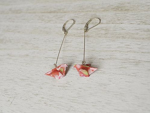 Origami Dove Drop Earrings ハトの折り紙ピアス