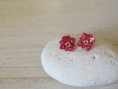 Origami Tiny Flower Stud Earrings