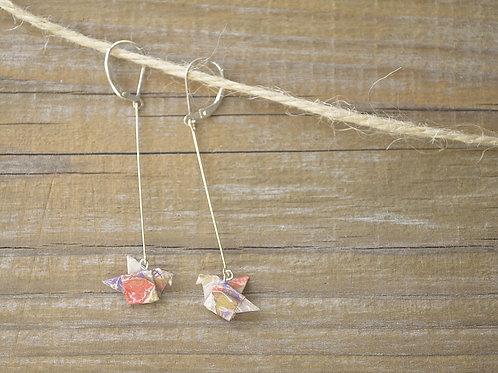 Origami Dove Earrings 折り紙のハトのピアス
