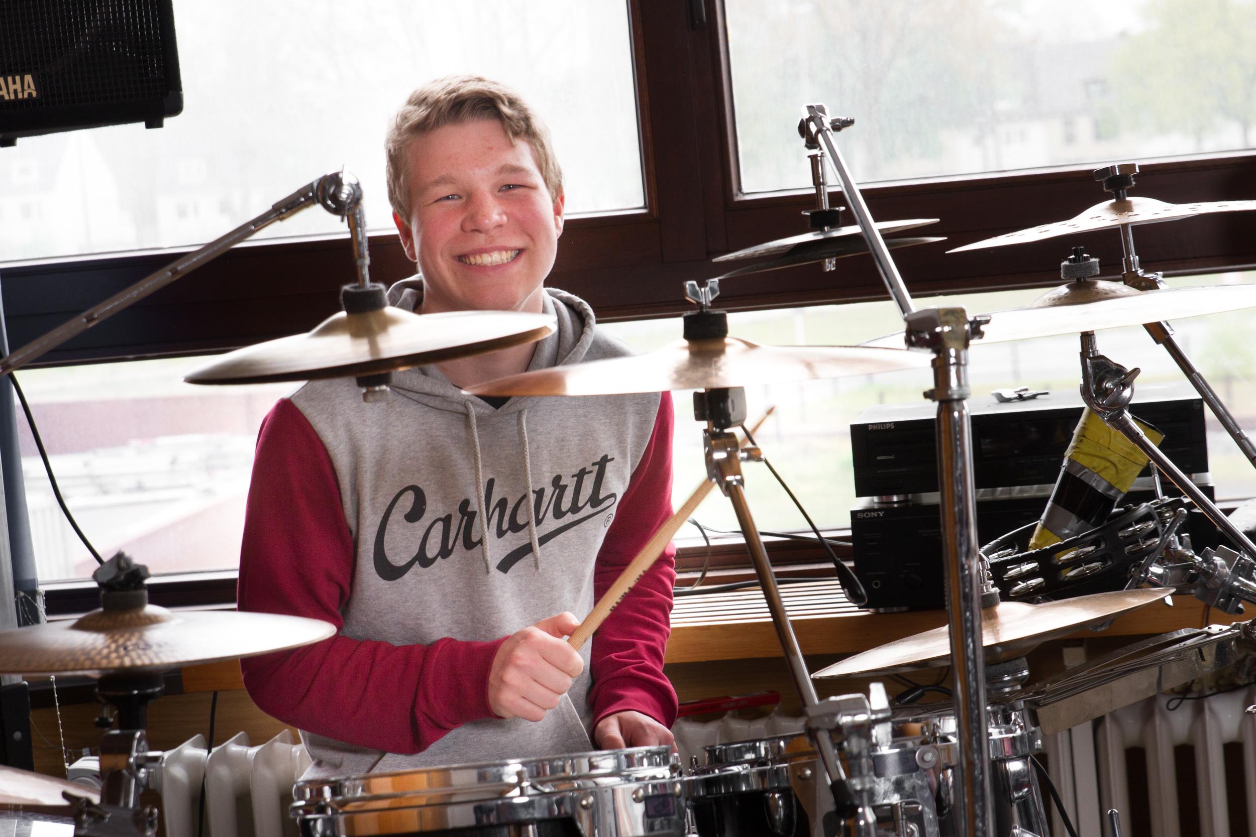Spaß beim Schlagzeug spielen