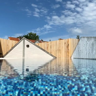 swimming pool on roof knokke