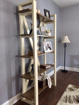 open shelving bookcase