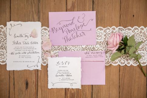 custom wedding invitation, Ellen LeRoy Photography