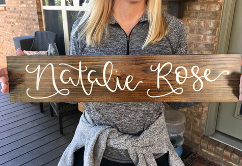wooden nursery name sign