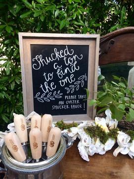 wedding favors chalkboard