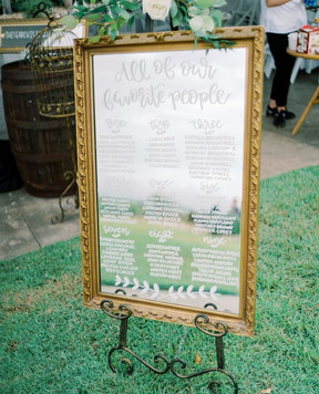 mirror seating chart,Melissa Blythe Photography