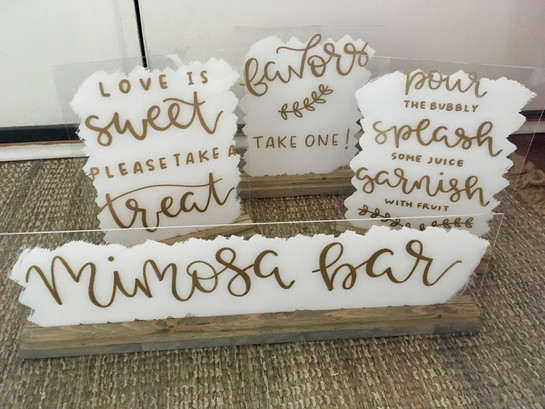 white acrylic signs