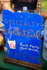 Acrylic bar sign, Ellen LeRoy Photograph