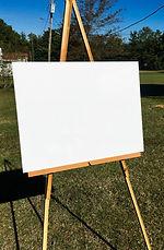 white acrylic sign