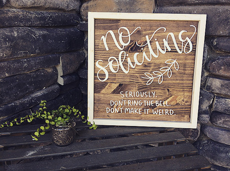 outdoors no soliciting sign