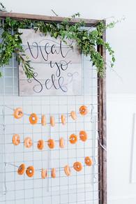 donut bar sign, Allie Miller Photography