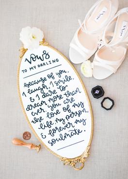 wedding mirror for vows, Allie Miller Ph