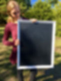 white chalkboard sign for rent