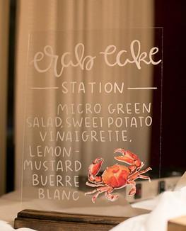 dinner station sign, Ellen LeRoy Photogr
