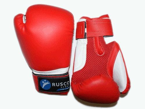Перчатки боксёрские RUSCOsport, красные, 6 Oz: К-6