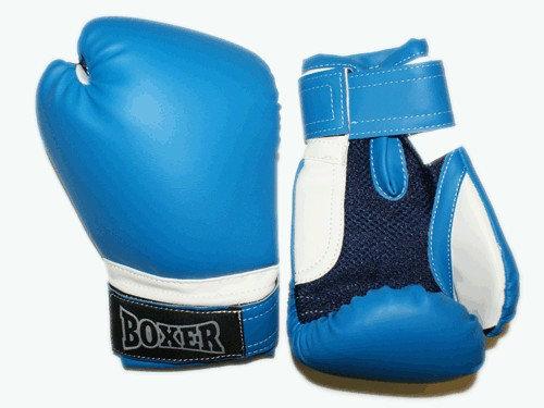 Перчатки боксёрские RUSCOsport, синие, 6 Oz: С-6