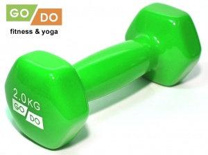 Гантель виниловая GO DO - 2 кг.