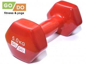 Гантель виниловая GO DO - 5 кг.