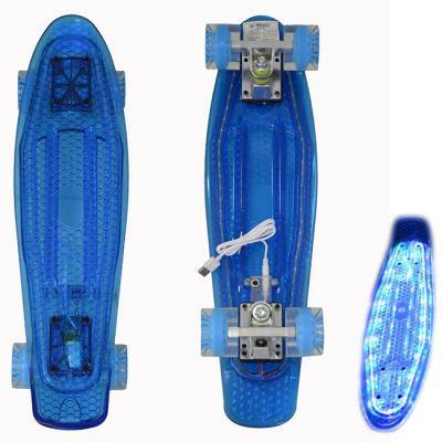 Пенниборд BlackAqua SK-2206PCD (дека светится)