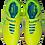 Бутсы зальные (футзалки) Rapido JSH4001, лимонный