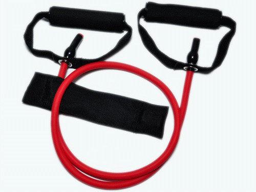 Эспандер латексная трубка с ручками (красный) 30LB (13,6 кг). :(WX-33):
