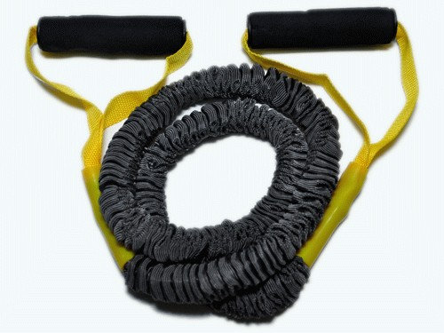 Эспандер латексная трубка с ручками в тканевой оплетке 6LB :(WX-44):