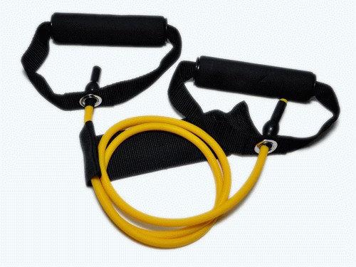 Эспандер латексная трубка с ручками (желтый) 4LB (1,8 кг)
