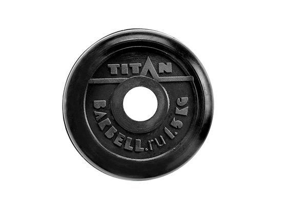 Диск для штанги Titan - 1,5 кг.