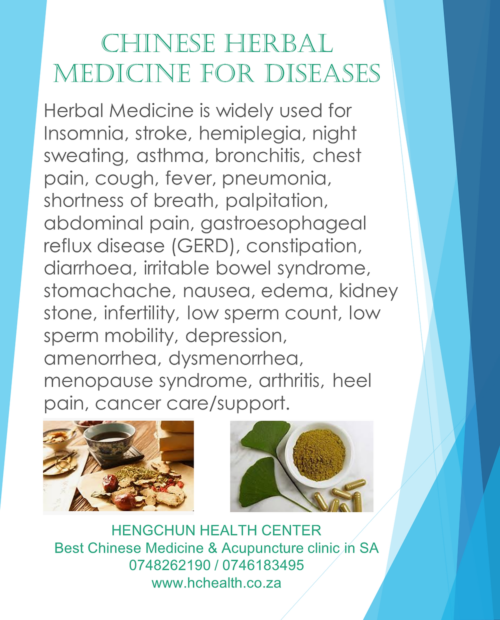 Chinese herbal medicine for diseases