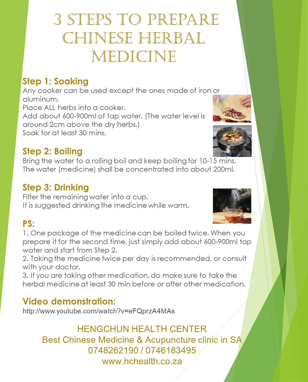 3 steps to prepare Chinese herbal medicine