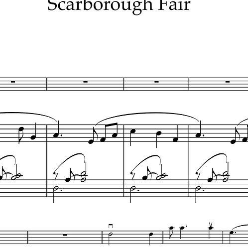 Scarborough Fair - arr. by Caroline Adomeit for violin and piano