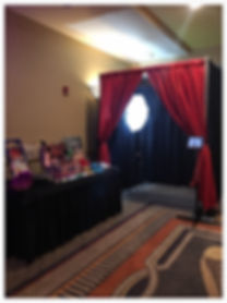Pipe and drape photo booth