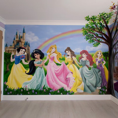 Disney Princess Interior Hand Painted Mural