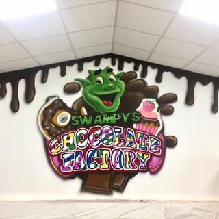Camel Creek Chocolate Fatcory Interior Hand Painted Mural