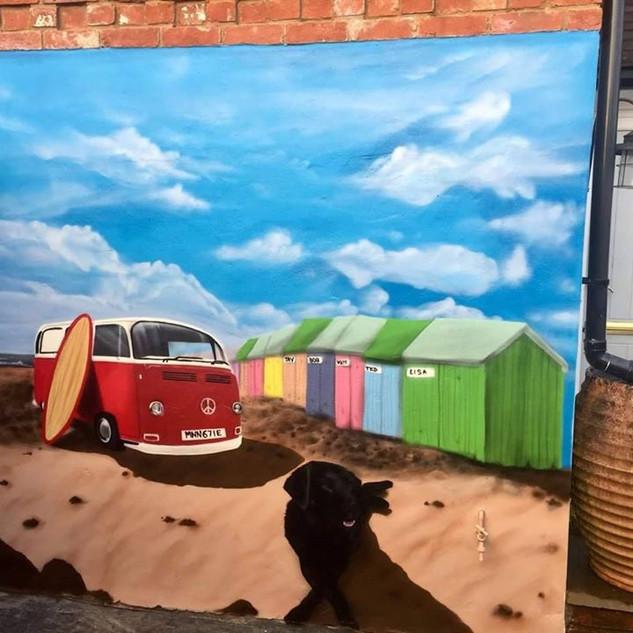 Beach Exterior Hand Painted Mural