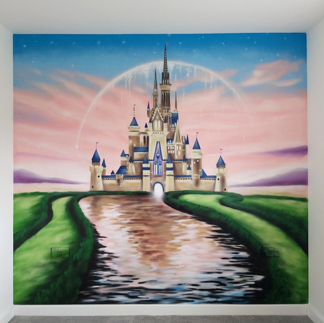 Disney Castle Interior Wall Mural