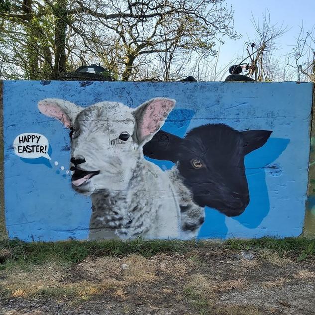 Farm Exterior Hand Painted Mural