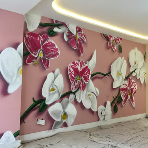 Orchaid Interior Hand Painted Mural