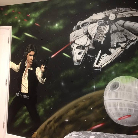 Starwars Interior Hand Painted Mural
