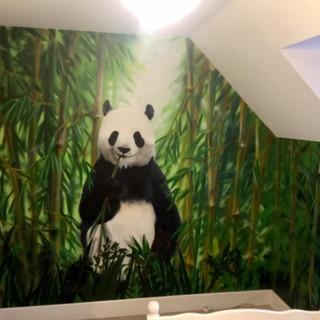 Panda Interior Hand Painted Mural