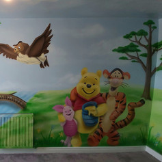 Winnie The Pooh Interior Hand Painted Mural
