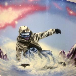 Skiing Interior Hand Painted Mural
