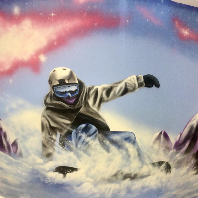 Skiing Interior Hand Painted Mural
