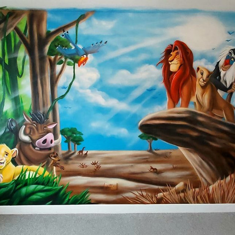 Lion King Interior Hand Painted Mural