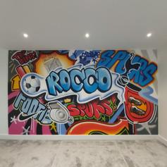 Football Mash Up Interior Hand Painted Mural