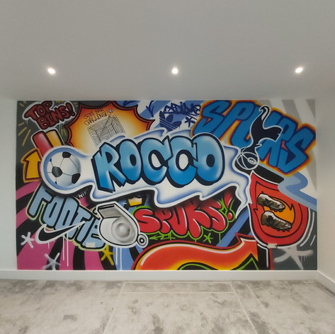 Football Mash Up Interior Hand Painted Mural