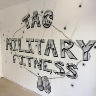 Tag Military Fitness Interior Hand Painted Mural